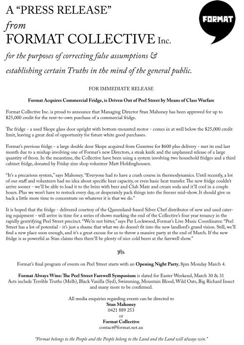 Fortmat Press Release I